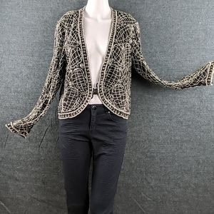 Stunning Vintage Leslie Fay Beaded Silk Jacket